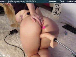 heatherbby9 big tits nude cam babe enjoys hard fucking