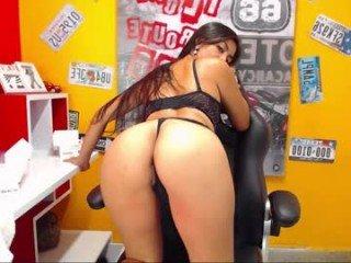 alismith17 big tits cam girl pleasing her bushy cunt with a dildo