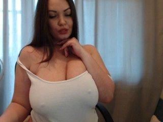 yourmilena fat brunette cam girl enjoys dirty live sex show