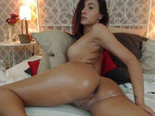 bellalissa1 redhead cam babe loves finger fucking her bald little pussy